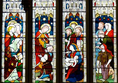 vitrail église