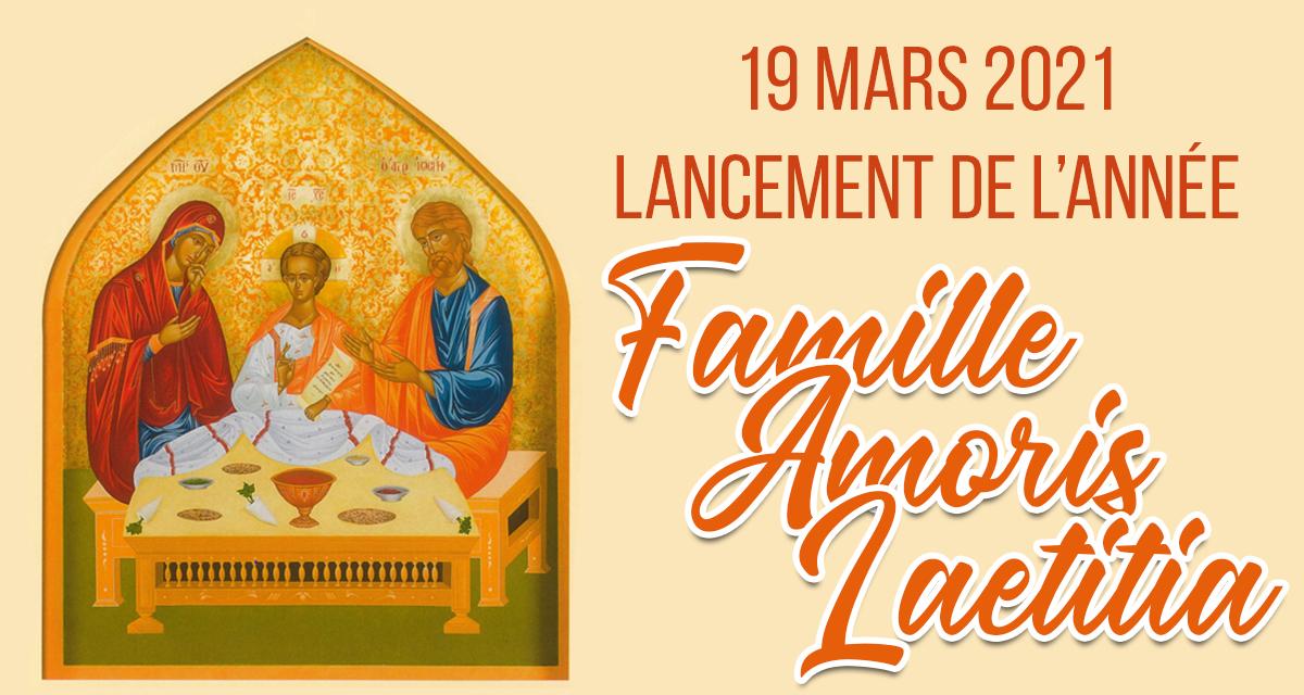 affiche officielle de l'année Famille Amoris Laetitia