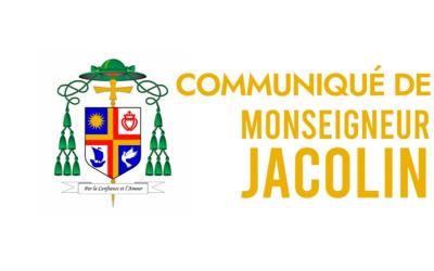 Communiqué de Mgr François JACOLIN