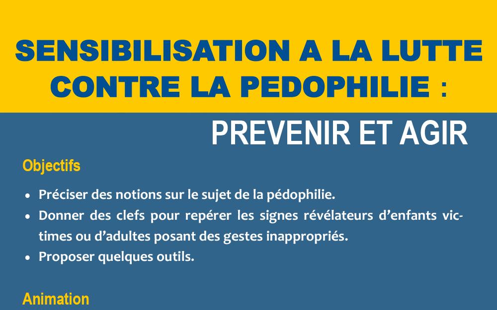 """FORMATION :  """"Sensibilisation à la lutte contre la pédophilie"""""""
